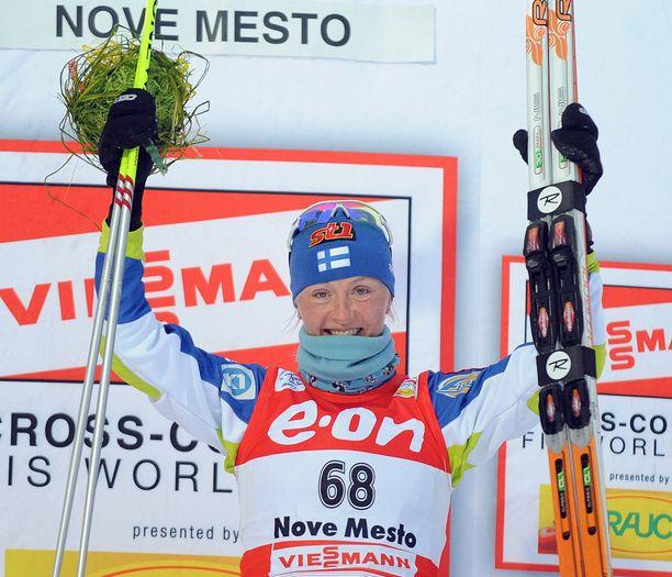 Tour de Skin etappi Nove Mestossa joulukuussa 2008 oli Virpi Kuitusen uran paras kilpailu.