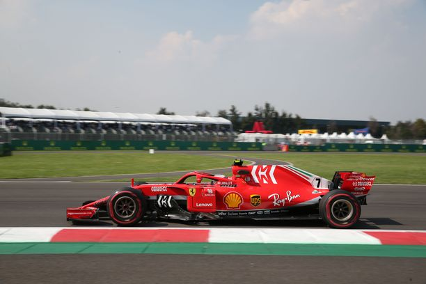 Kimi Räikkönen oli aika-ajon kuudenneksi nopein ukkeli.