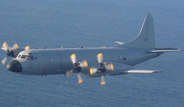 Lockheed P-3C Orion -konetta käytetään sukellusveneiden torjumiseen.