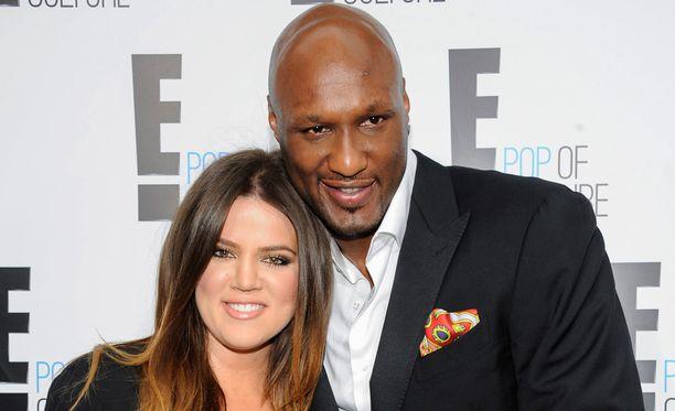 Odomin ex-puoliso Khloe Kardashian on ollut Lamarin tukena. Kuva vuodelta 2012, jolloin kaikki oli vielä Lamarin elämässä hyvin.