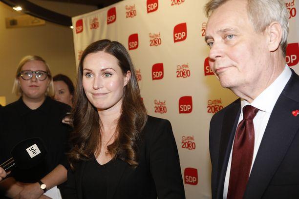 Antti Rinne luopuu puheenjohtajuudesta, Sanna Marin aloittaa. Kuva viime joulukuulta, kun Rinne oli väistynyt pääministerin paikalta.