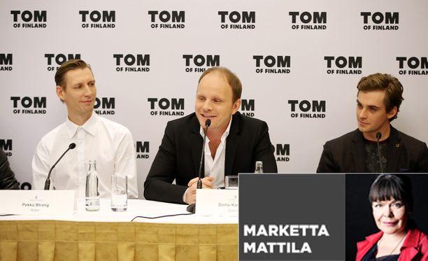 Ohjaaja Dome Karukosken (kesk.) vaikuttava, pian ensi-iltaan tuleva Tom of Finland ovat kannanotto ihmisarvon ja sananvapauden puolesta.