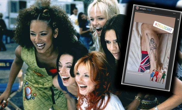 Spice Girls -yhtyeen jäsenet jakoivat somessa suomalaisbloggaajan tatuointikuvan.