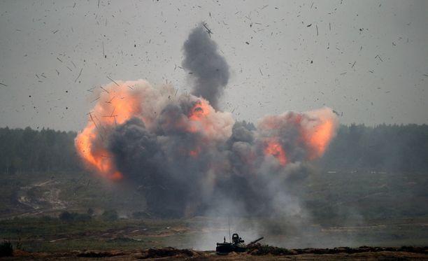 Ammukset räjähtelivät Venäjän ja Valko-Venäjän yhteisessä Zapad-sotaharjoituksessa syyskuussa.