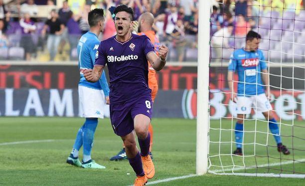 Giovanni Simeone oli hirmuvireessä Napolia vastaan.
