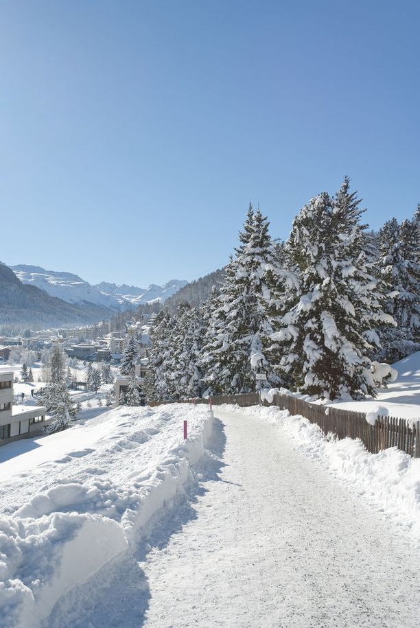 St. Moritzissa voi sekä lasketella että hiihtää.