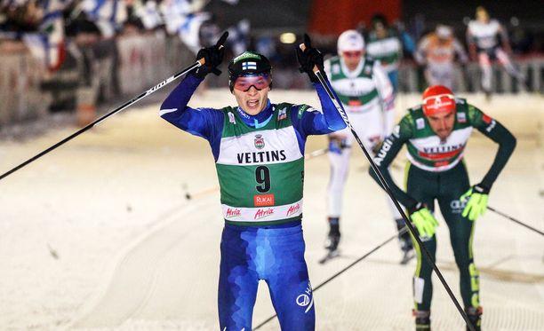 Eero Hirvonen oli Rukan maailmancupin kakkonen lauantaina.
