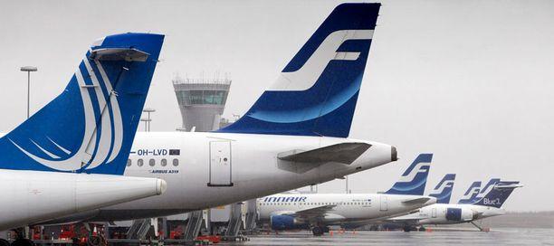 Finnairin lentoliikenne saattaa halvaantua lähes kokonaan jos kuljestusalan tukitoimet tulevat voimaan.