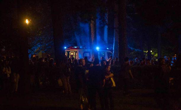 Puukotus tapahtui Isossapuistossa Kotkan keskustassa.