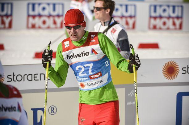 Timo Grönlund starttasi Seefeldin MM-ladulle Bolivian väreissä.