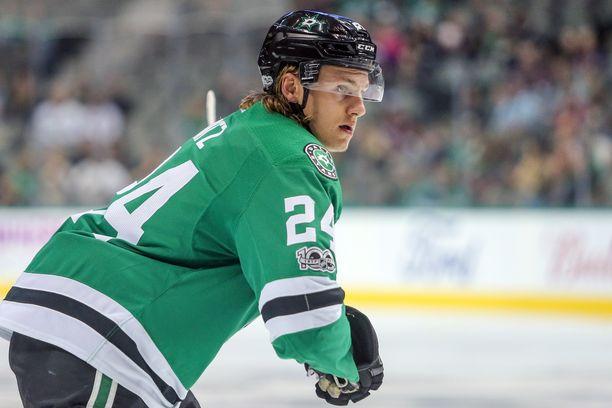 Roope Hintz näytti luonnetta Edmonton-pelissä.