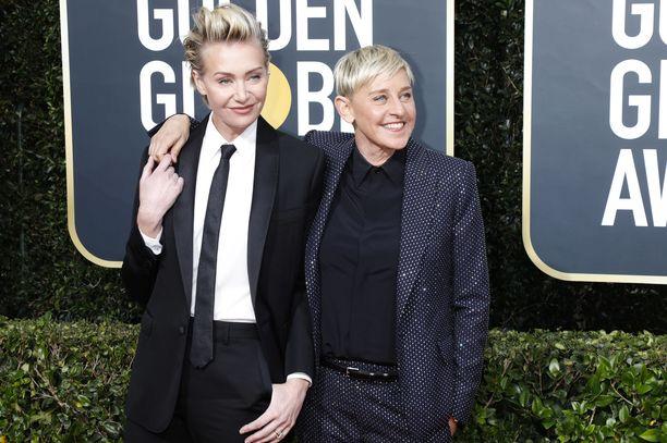 Ellen DeGeneres ja Portia de Rossi joutuivat ryöstön uhreiksi.