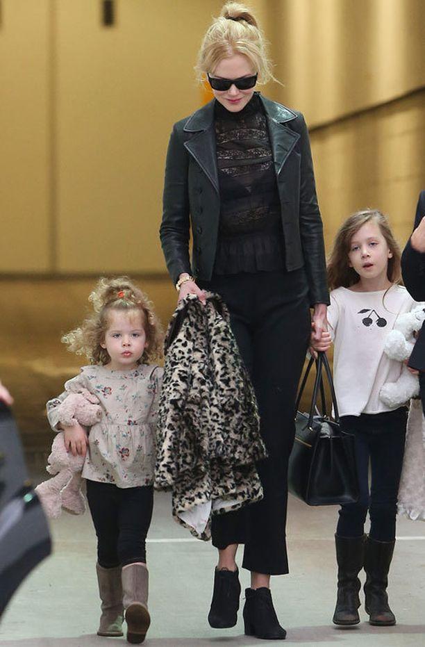Nicole Kidmanin kotona riittää tyttöenergiaa.