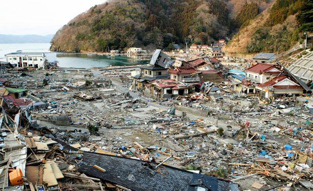 Tällaista tuhoa tsunami teki Ogatsun kaupungille Ayukawan lähellä.