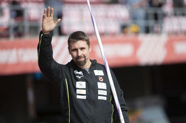 Antti Ruuskanen jätti jäähyväiset Tampereella lauantaina.