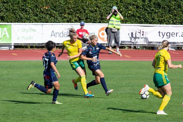 Kansallinen liiga alkaa kesäkuussa. Kuva Åland Unitedin ja Ilveksen ottelusta vuodelta 2018.