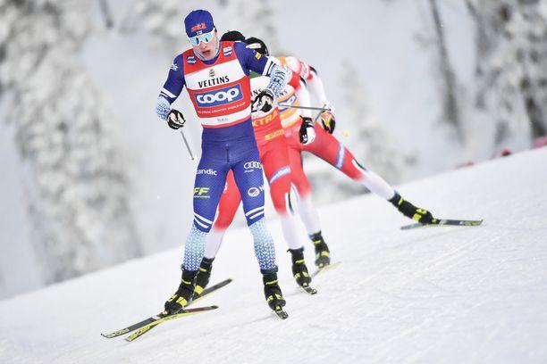 IIvo Niskanen hiihtää vapaan wassberg-tekniikkaa erinomaisesti, kuokkatekniikka ei ole vielä aivan parhaalla mahdollisella tasolla.