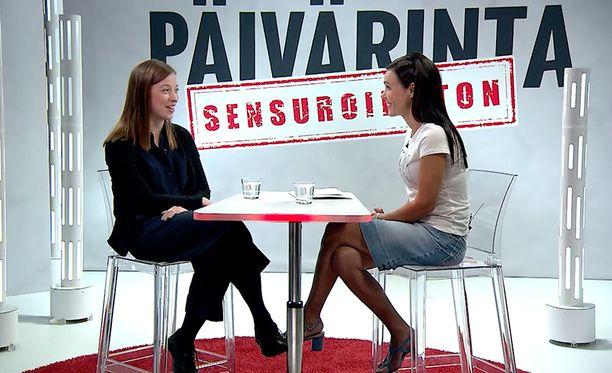 Li Andersson otti Sensuroimaton Päivärinta -studiossa kantaa myös kannabiskysymykseen.