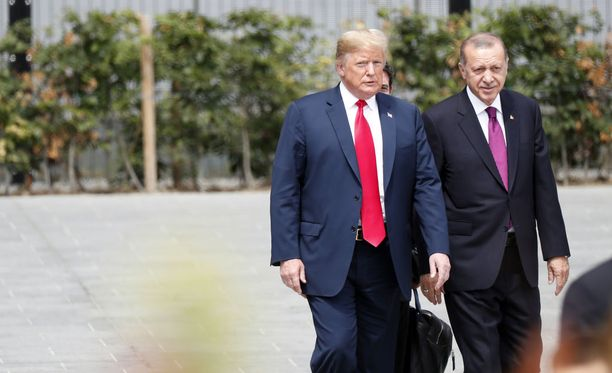 Presidentit Trump ja Erdogan tapasivat Brysselissä järjestetyssä Nato-kokouksessa heinäkuussa.