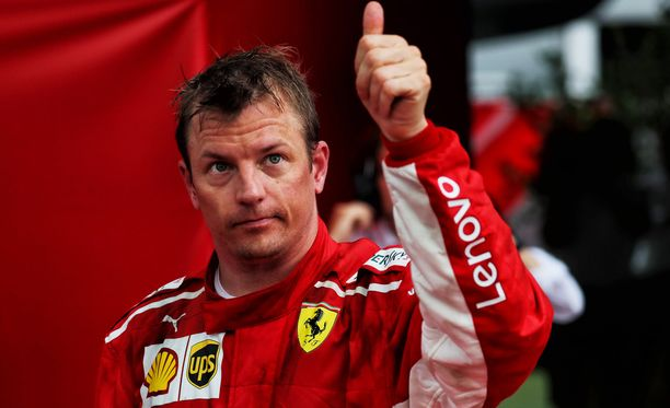 Kimi Räikkönen ajoi jopa voitosta Hockenheimissa viime sunnuntaina.