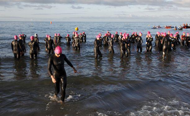 Triathlon-harrastus on kasvattanut suosiotaan viime vuosina. KUVITUSKUVA.