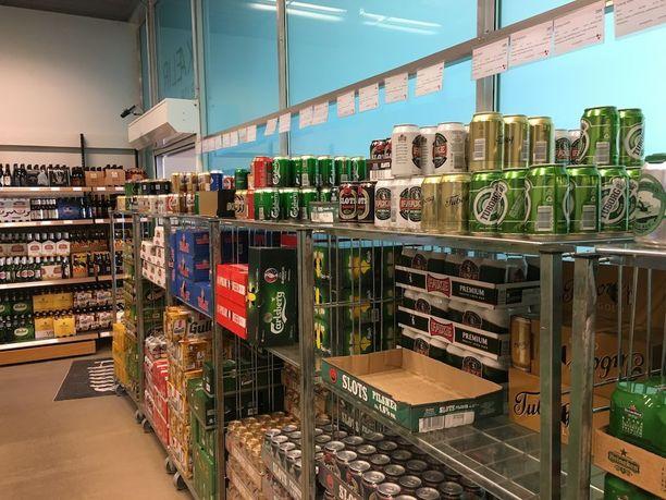 Islannissa on Pohjoismaiden tiukin alkoholilainsäädäntö. Kuva Vínbúðin-liikkeestä Reykjavikissa.