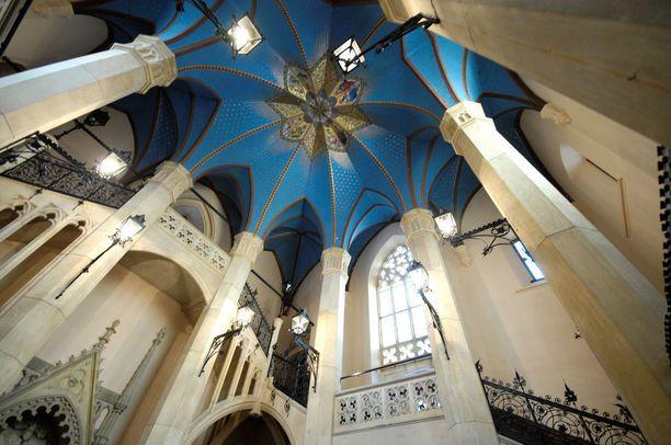 Marienburgissa kiertelevän kannattaa katsella myös ylöspäin. Jokaisen huoneen katto on erilainen, ja yksityiskohtaisesti koristeltu.