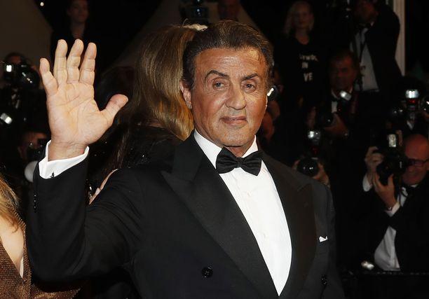 Sylvester Stallone Cannesissa 24.5.2019. Näyttelijän Rocky-elokuvien putki alkoi vuonna 1976.