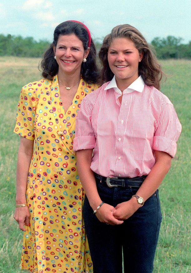 Prinsessa Victorian kanssa kesällä 1993.