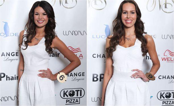 Iina ja Carola ovat tuttuja Miss Helsinki -kisasta.