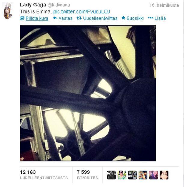 Lady Gaga nimesi pyörätuolinsa Emmaksi.
