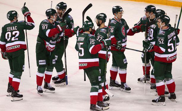 AK Bars Kazan iskee tänään yhteen Traktor Tsheljabinskin kanssa KHL:n välierissä.
