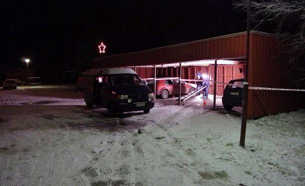 Räjähdys tapahtui rivitalon autokatoksessa Korsnäsissä viime joulun alla.
