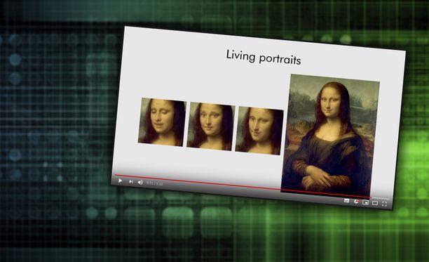 Tekoälyn avulla Mona Lisa herää eloon.