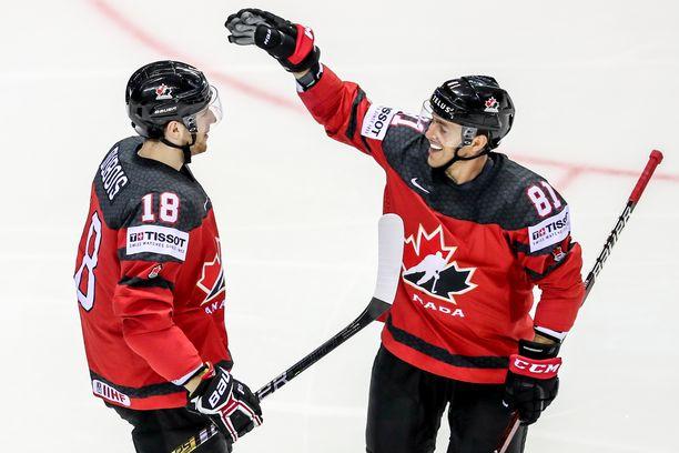 Kanadan NHL-tähdet Pierre-Luc Dubois ja Jonathan Marchessault yrittävät tänään pilata Leijonien kultaunelman.