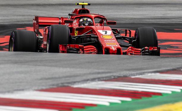 Kimi Räikkönen sijoittui Itävallan GP:n aika-ajossa neljänneksi.