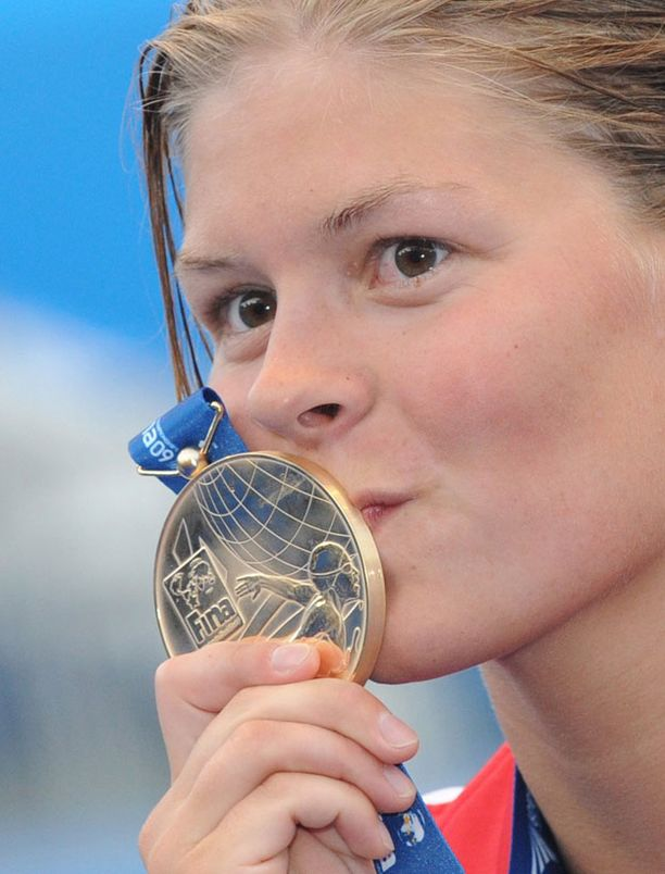Lotte Friis voitti kultaa 800 metrin vapaauinnissa MM-kisoissa 2009.