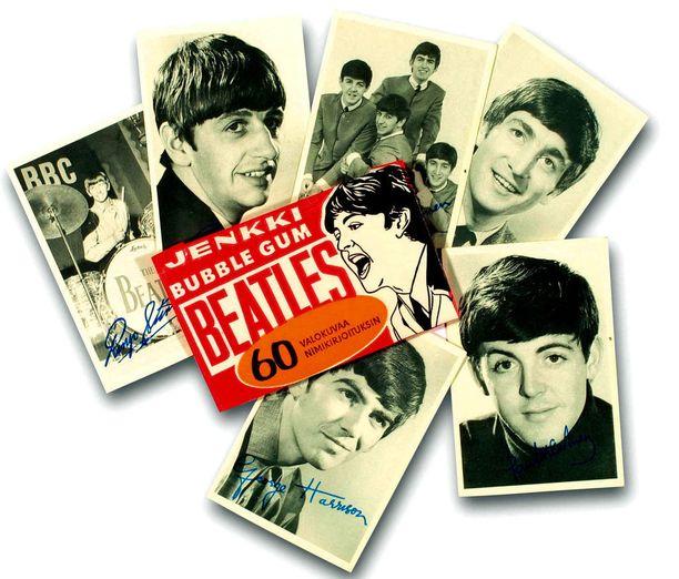 Hellaksen mukaan kaikkien aikojen myydyin Jenkki-kuvapurukumi oli Englannista hankittu Beatles-sarja.