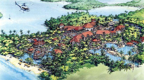 Saarille oli määrä rakentaa ylellisiä lomakohteita ja hotelleja.