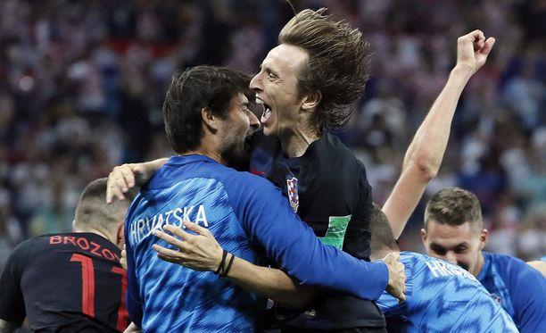 Luka Modric oli huojentunut, kun Kroatia eteni rangaistuspotkujen jälkeen puolivälieriin. Modric tyri rangaistuspotkun toisen jatkoajan viimeisillä minuuteilla.