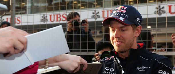 Sebastian Vettel jakoi nimmareita Shanghaissa.