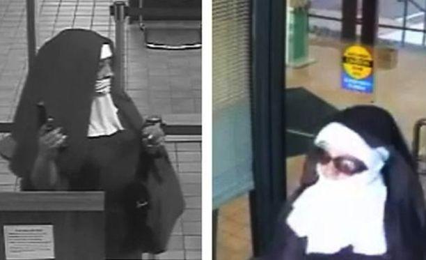 Toisella ryöstäjällä oli päällään aurinkolasit.