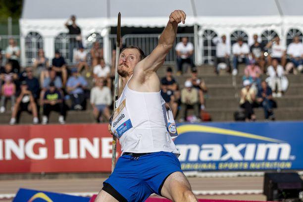 Lassi Etelätalo oli Paavo Nurmi Gamesin miesten keihään paras suomalainen. Hän heitti 79,77.