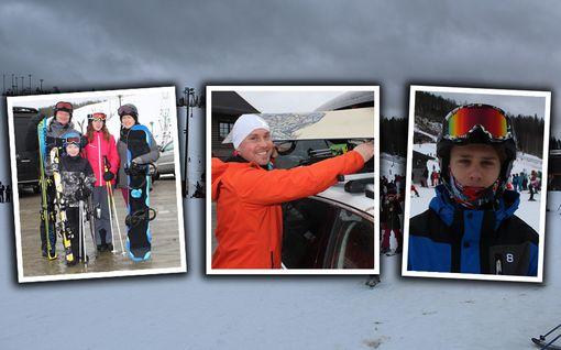 """Himos viruu muhjutuskassa – lomalaiset uhkaavat hiihtää missä kelissä tahansa: """"Tämä on irtiotto"""""""
