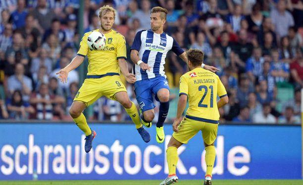 Teemu Pukki upotti Hertha Berlinin Eurooppa-liigan karsinnassa.
