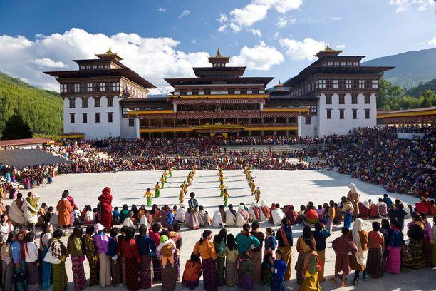 Bhutanin Thimpussa järjestetään paljon omaleimaisia tapahtumia.