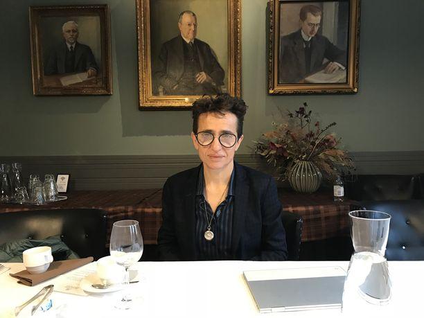 Kirjailija Masha Gessen vieraili Suomessa tällä viikolla.