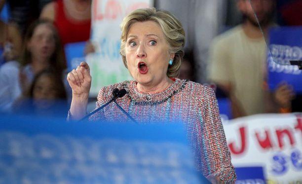 Demokraattien presidenttiehdokas Hillary Clinton joutui epäedulliseen valoon Wikileaksin vuotojen myötä.