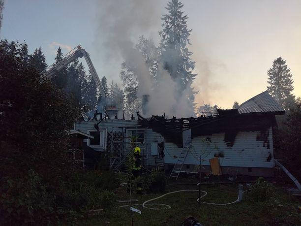 Ypäjällä omakotitalo paloi sunnuntaina 8. heinäkuuta.