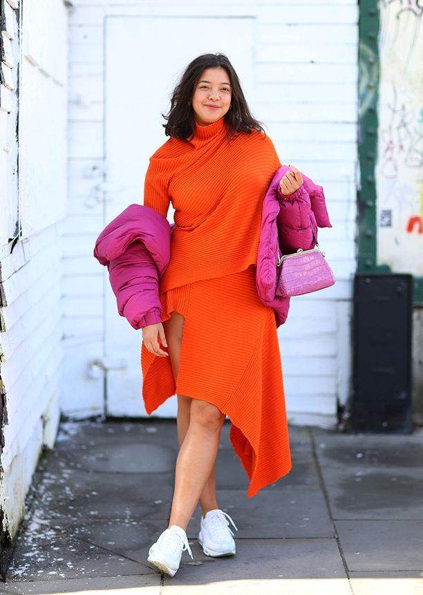 Yllättävän kiva väriyhdistelmä: oranssi ja fuksia.